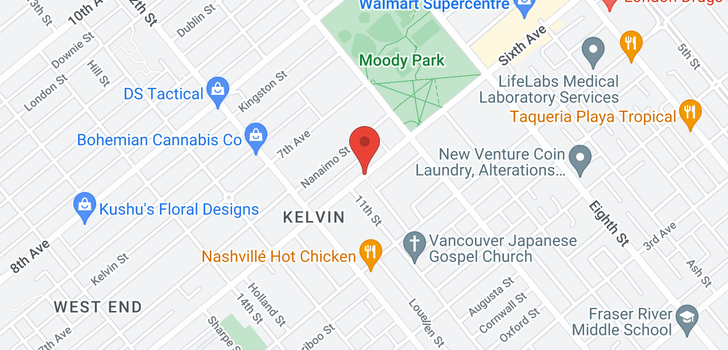 map of 1031 SIXTH AVENUE