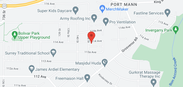 map of 14070 114 AVENUE