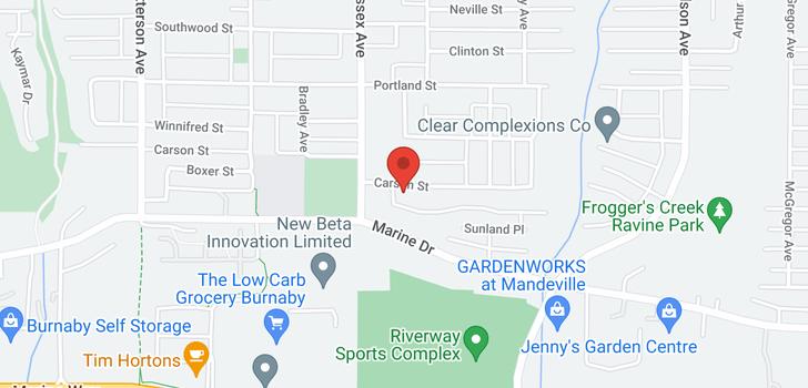 map of 4468 CARSON STREET