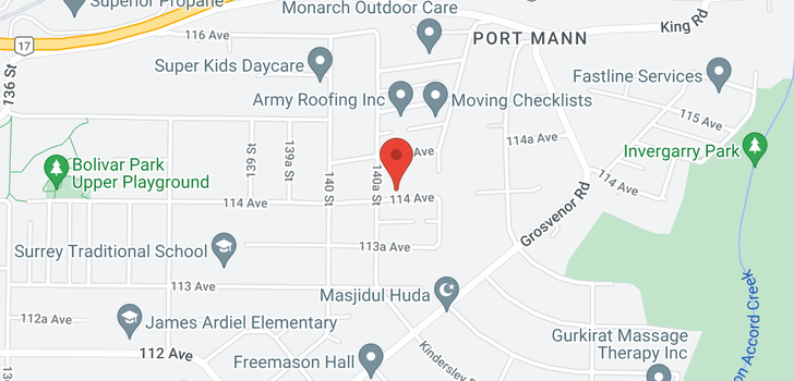 map of 14079 114 AVENUE