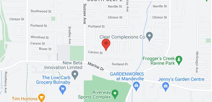 map of 4531 CARSON STREET