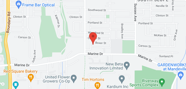 map of 4172 BOXER STREET
