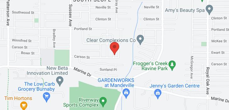 map of 4637 CARSON STREET