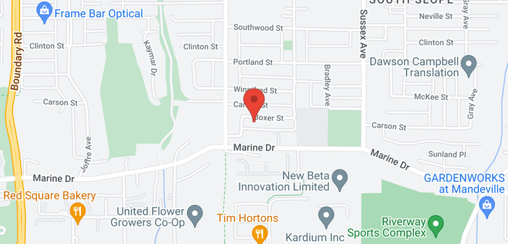 map of 4192 BOXER STREET