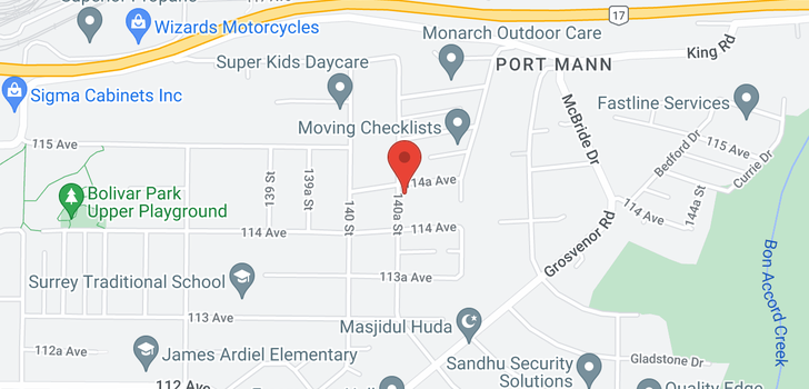 map of 14062 114A AVENUE