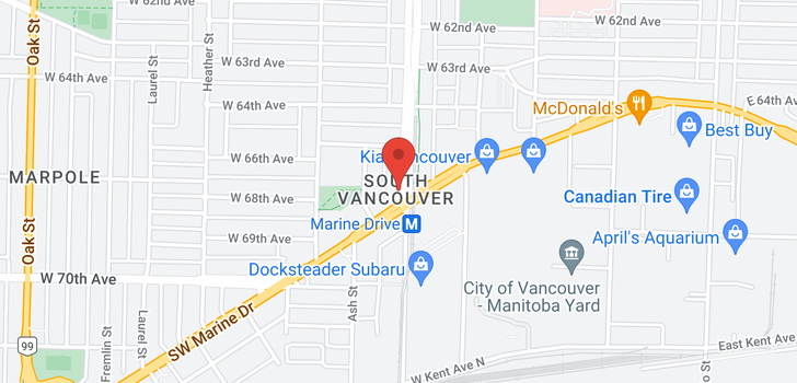 map of 2807 8189 CAMBIE STREET