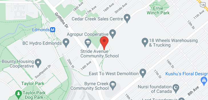 map of 422 7088 14TH AVENUE
