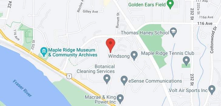 map of 21 11464 FISHER STREET