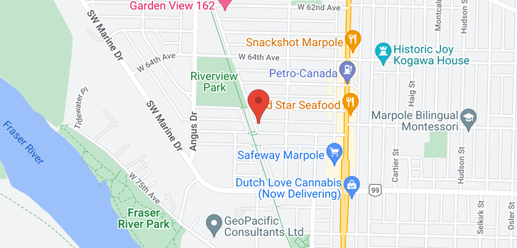 map of 1695 W 68TH AVENUE