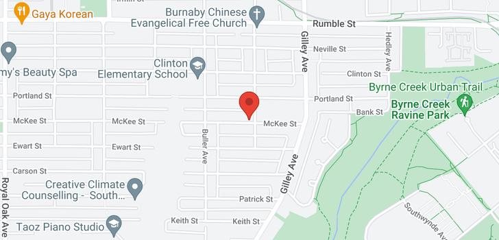 map of 6087 MCKEE STREET
