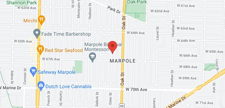 map of 8236 OSLER STREET