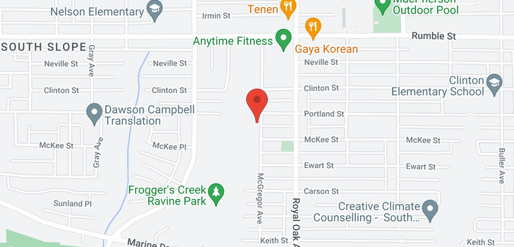 map of 5106 CLINTON STREET
