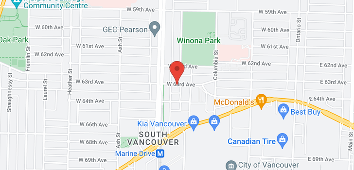 map of 209 458 W 63RD AVENUE