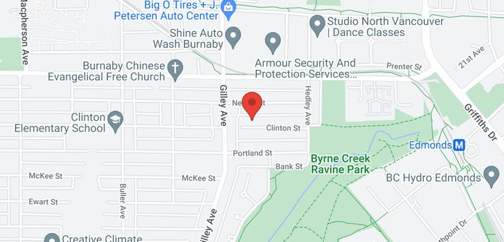 map of 6407 CLINTON STREET