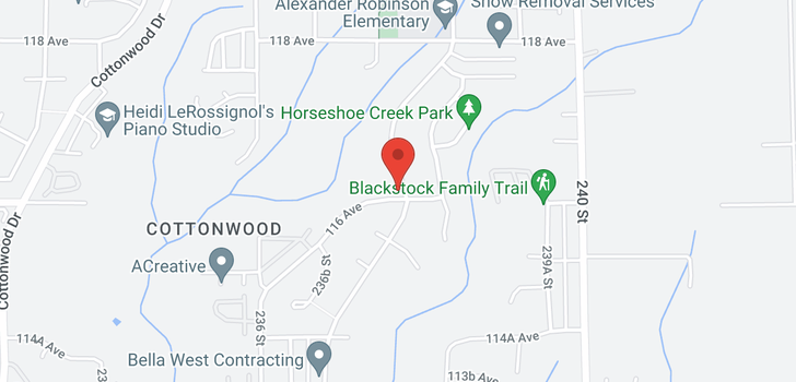 map of 23785 116 AVENUE