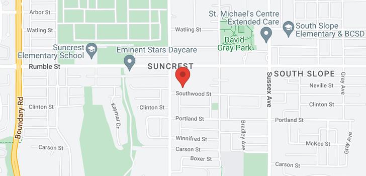 map of 4143 SOUTHWOOD STREET