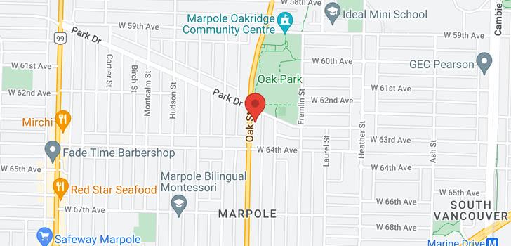map of 7860 OAK STREET