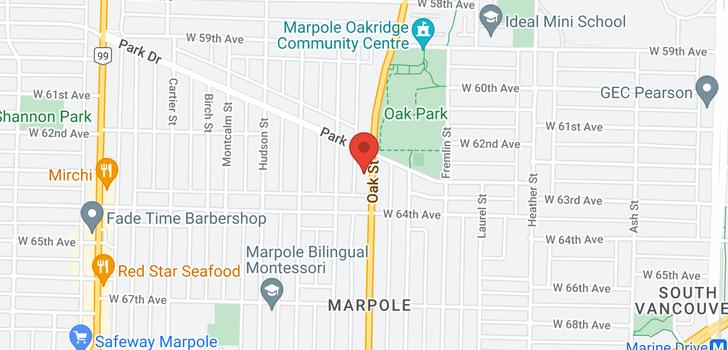 map of 7883 OAK STREET