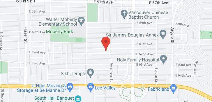 map of 1275 E 62ND AVENUE