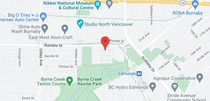 map of 42 6700 RUMBLE STREET