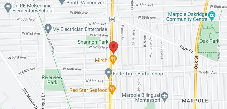 map of 203 7878 GRANVILLE STREET