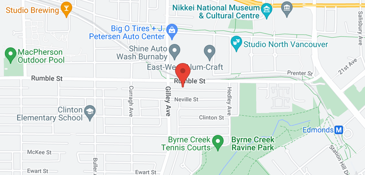 map of 6362 RUMBLE STREET