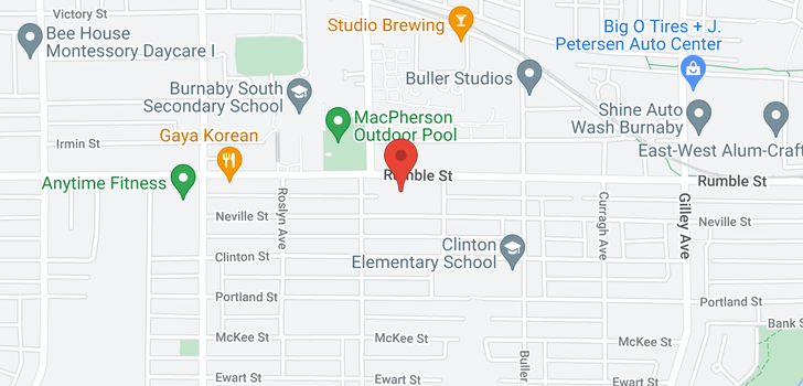map of 5626 RUMBLE STREET