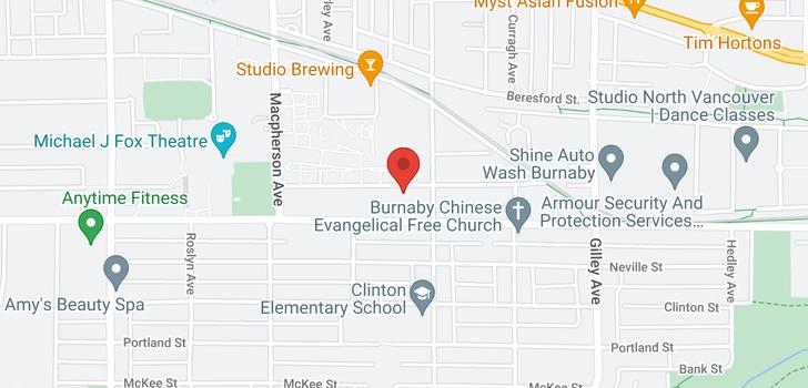 map of 5848 IRMIN STREET