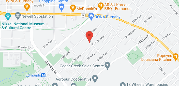 map of 12 7433 16TH STREET