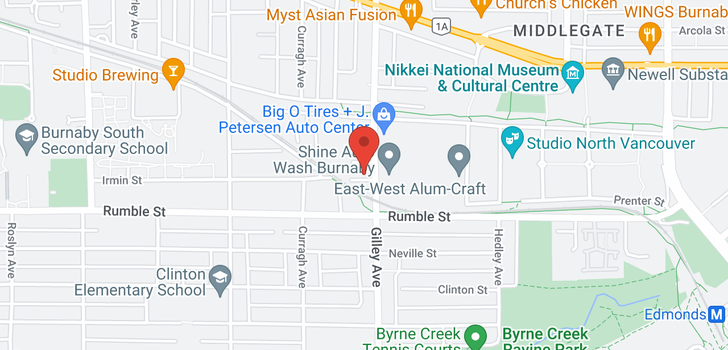 map of 111 7533 GILLEY AVENUE