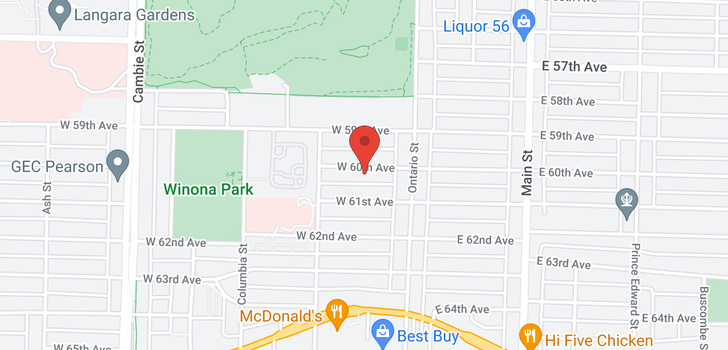 map of 82 W 60TH AVENUE
