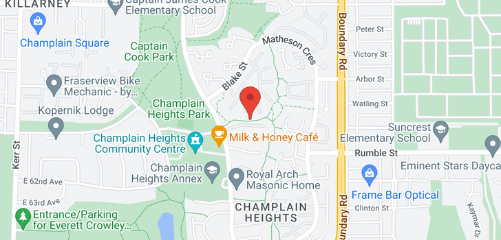 map of 3474 NAIRN AVENUE