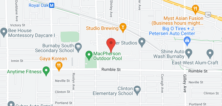 map of 107 5775 IRMIN STREET