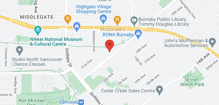 map of 314 7151 EDMONDS STREET