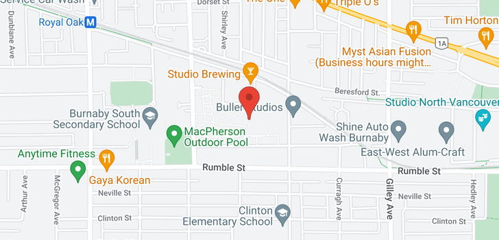 map of 410 5788 SIDLEY STREET