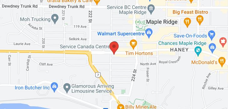 map of 308 22318 LOUGHEED HIGHWAY