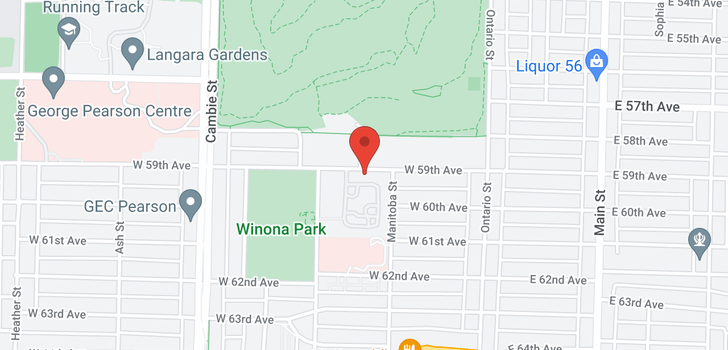 map of 252 W 59TH AVENUE