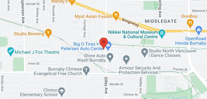 map of 5 6288 BERESFORD STREET