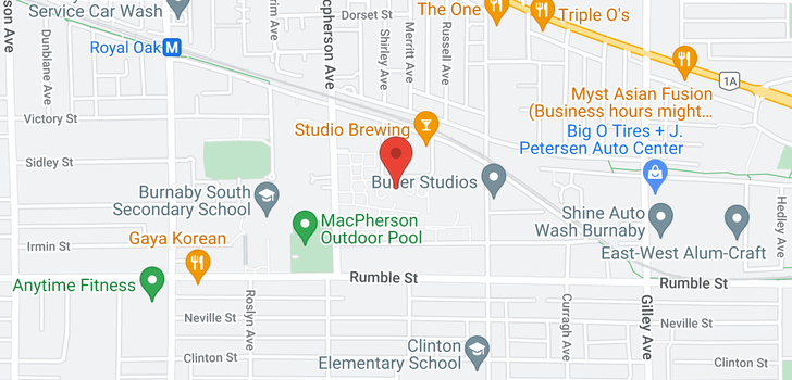 map of 118 5788 SIDLEY STREET