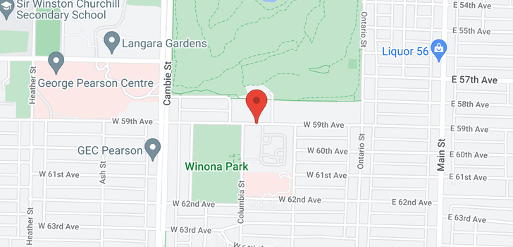 map of 319 W 59TH AVENUE