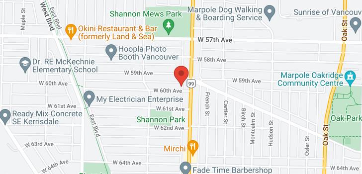 map of 7561 GRANVILLE STREET