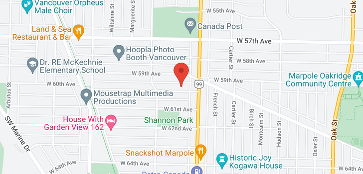 map of 1503 W 60TH AVENUE