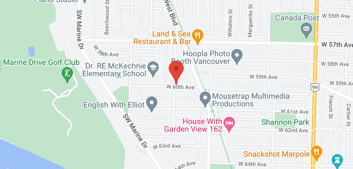 map of 1899 W 60TH AVENUE