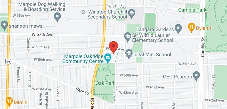 map of 7465 LAUREL STREET