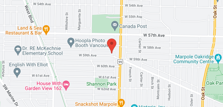 map of 1523 W 59TH AVENUE