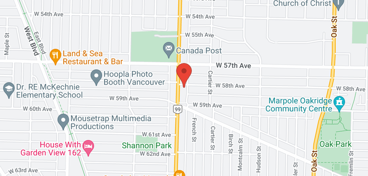 map of 1492 W 58TH AVENUE
