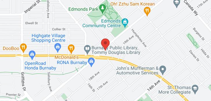 map of 701 7358 EDMONDS STREET