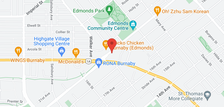 map of 509 7358 EDMONDS STREET