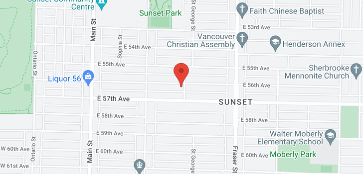 map of 496 E 56TH AVENUE