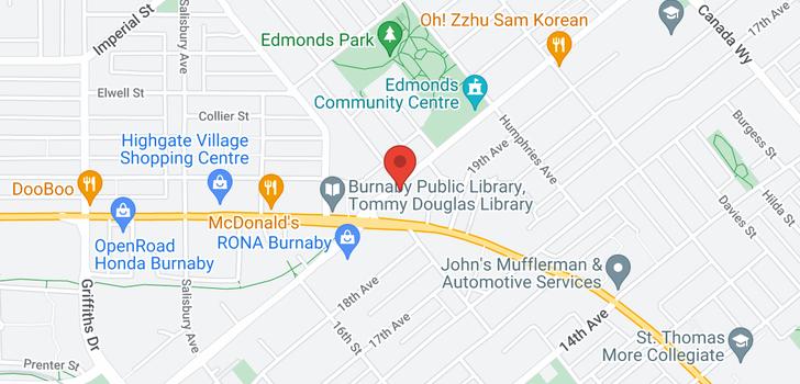 map of 910 7358 EDMONDS STREET